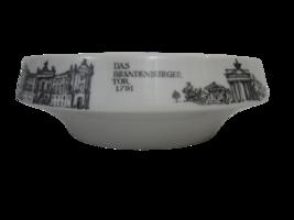 Unterweissbach Mid Century modern bowl Brandenburg Tor Gate & Library Be... - $79.19