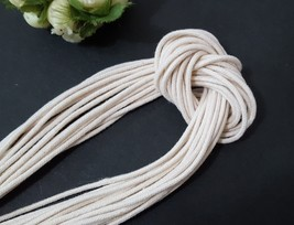 Approx 2mm wide 5 yds -200 yds beige Cotton Cord String Rope Drawstring CC3 - $5.99+