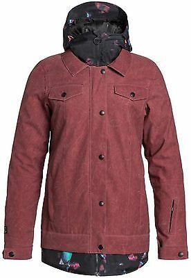 New Women's DC Downtown Snowboard Jacket - Size: Medium - Red -