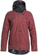 New Women's DC Downtown Snowboard Jacket - Size: Medium - Red -	 - $197.95