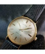Mens Movado Kingmatic S 34mm 14k Solid Gold Automatic, 1960s Swiss Vinta... - $2,168.17