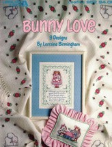 BUNNY LOVE Leaflet 952 Leisure Arts Counted Cross Stitch Designs Patterns - $3.55
