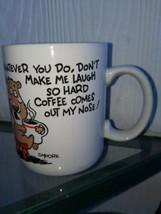 Vintage C Moore Shoebox Hallmark Coffee Mug Whatever You Do Don't Make me Laugh  - $12.86