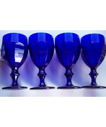 Libbey Duratuff Cobalt Blue Gibraltar all purpose Goblets (4) EXC - $19.79