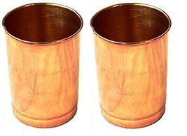 US Shopee Copper Tumbler Set of 2 | Traveller's Copper Glass tumbler | h... - $15.83