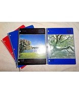 ECD Spiral-bound 3-hole lined notebooks: 2 new MEAD large, 2 partly used... - $9.89