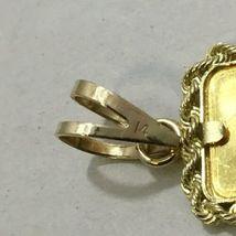 Rare 99.9 24K Fine Yellow Gold Ingot 14K Bezel UBS Pendant (1.9g) Bar image 5