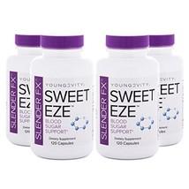 Slender FX Sweet Eze Blood Sugar Regulator - 4 Bottles 120 Capsules Per Bottle S