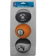NBA New Jersey Nets Kids Softee Basketball (Set of 3), Small, Black… - $19.78