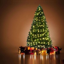 7Ft Artificial Decorate Christmas Pine Tree w/ 100 LED Lights 100 Tips +... - $99.99