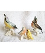 Vintage Karl Ens Porcelain Germany Lovely BIRD FAMILY 3 Piece Figurines - $275.00