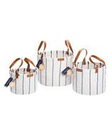 NEW Nautica Handwoven Rope Storage Baskets, 3-piece  2A011W  **FREE SHIP... - $64.99