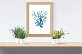 Blue Coral - Art Print - Various & Custom Sizes Available - $4.50