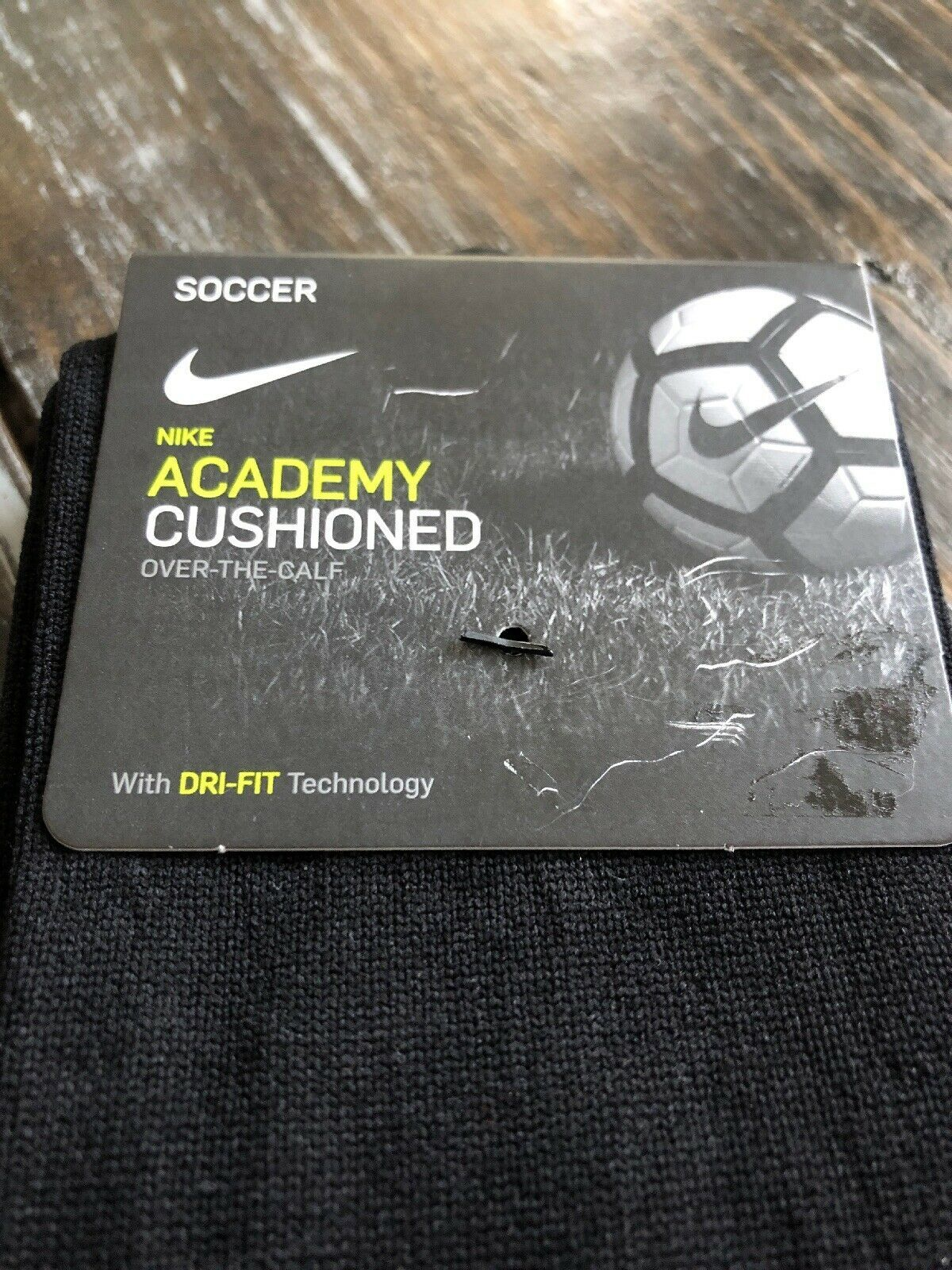 Nike Classic Soccer Socks SX4120 001 Adult All Black Dri Fit Size Medium image 2