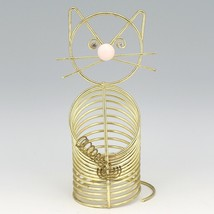 Vintage Mid Century Modern Wire Cat Letter Pencil Holder Desktop Whimsey image 2