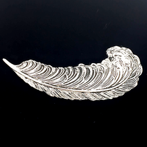 Sarah Coventry Silver Feather Plume Brooch Pin - $24.75
