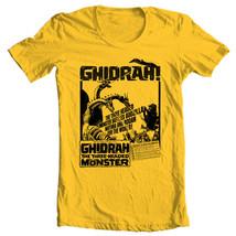 Ghidrah three-headed monster t-shirt Godzilla Monster King Ghidorah gold retro image 1
