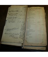 c1900 LOT DANSVILLE MOUNT MORRIS RAILROAD EPHEMERA PAYROLL DOCUMENT TRAI... - $74.24