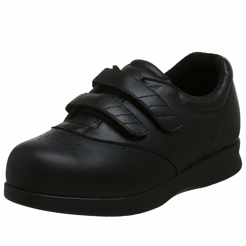 Drew Women's Black Calf Orthopedic Walking Shoes Paradise II Slip-on 10.5 W US