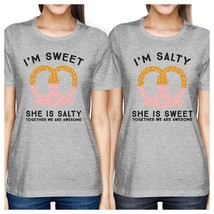 Sweet And Salty BFF Matching Grey Shirts - $30.99+