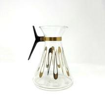 Mid Century Modern Astor Range-top Glass Coffee Pot Carafe Gold 8 Cup 40 Oz - $19.30