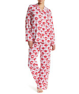 BHPJ by BedHead Pajama Set Lips Kisses Red White Pink Size Small - $39.95
