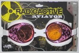 SteamPunk Cosplay Radioactive Lab/Aviator Goggles, Pink/White - $14.50