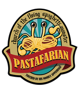 Church of The Flying Spaghetti Monster vinyl sticker 15x14cm pastafarian... - $3.90