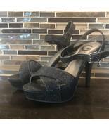 Guess black sparkly glitter platform  heels - $36.63