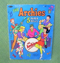 1969 THE ARCHIES Cut Outs Paper Dolls Whitman 32 Pc Clothes 5 Dolls Bett... - $14.03