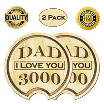 Navady Dad I Love You 3000 Wood Car Coaster 2.87 Inches Diameter Dad Gif... - $10.64