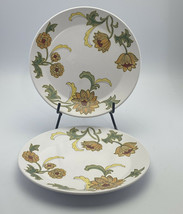 2 Vintage Noritake Progression Aloha 9023 Dinner Plates Japan Sunflower Retro - $12.86
