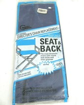NEW Directors Chair Seat & Back Cover BLUE Canvas Heavy Duty Vtg Replace... - £15.33 GBP