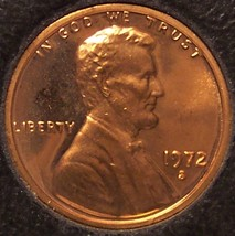 1972-S Proof Lincoln Memorial Penny #0414 - $1.19