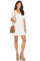 1.State Patched Denim Shift Dress M Light Pale Blue Frayed Relaxed Fit D... - $9.50