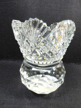 """VTG Small Cut Crystal Toothpick holder Table Decor 2.75"""" scalloped fan d... - $25.25"""