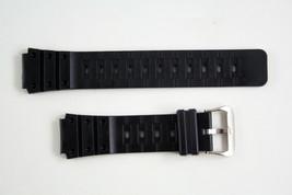 Casio Fit Watch Band Strap  17mm Black Rubber TS-100 TR-1 TR-10W TR-1EV ... - $8.75
