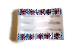 Hand painted soap dish, ceramic soap saver with... - $19.00