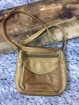 Fossil Vintage Brown Leather Crossbody Messanger Back With Key - $28.01