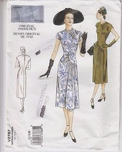 Dress A-line 1948 Design Vogue Sewing Pattern 2... - $12.86
