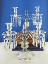 "2 Heisey Old Williamsburg Candelabra Antique 13"" w Prisms 2 Light Candle... - $98.01"
