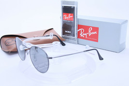 New RAY BAN ROUND METAL RB 3447 029/K3 Gunmetal w/Grey Mirror Silver Pol... - $352.42