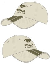 Mustang 50 Years w/Pony on a new Cream/Brown Ball Cap - $18.00