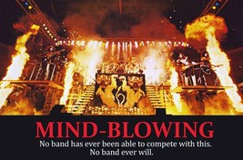 """KISS Band """"24 x 36"""" 1977-78 """"MIND BLOWING"""" Full Stage Shot Reproduction ... - $45.00"""