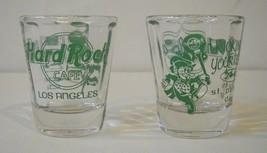 Hard Rock Cafe Los Angeles 2002 St. Patricks Day Short Shot Glass set of 2  - $19.20
