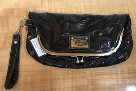 Guess New Wristlet Purse black with Tag. Black Pleather Silver Ball Clasp - $9.90
