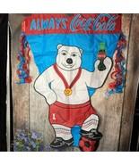 COCA-COLA 1998 POLAR BEAR SOCCER PLAYER PENNANT, Used - $6.93