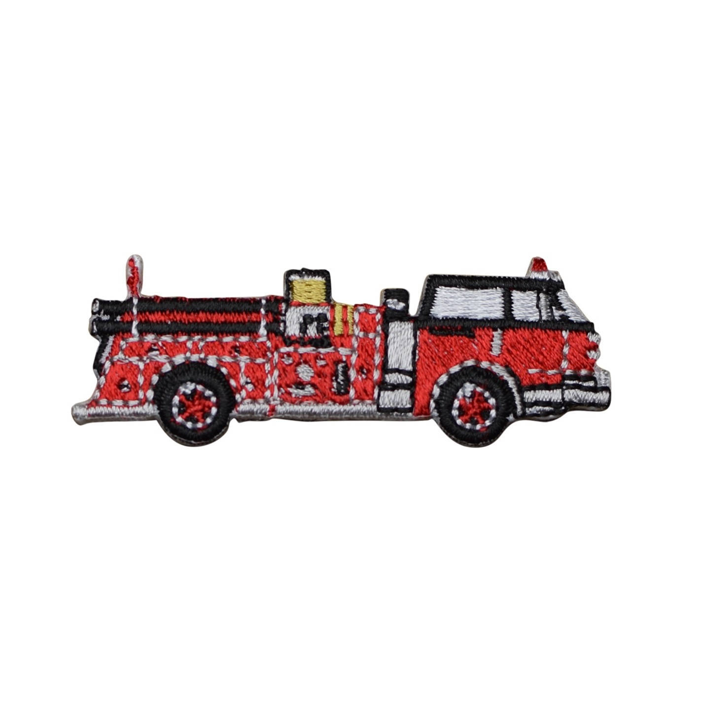 Fire Truck Applique Patch  (Small, Iron On) for sale  USA