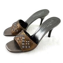 Donald J Pliner Couture Nievo Copper Brown Studded Pumps Heels Women 9.5... - $49.35