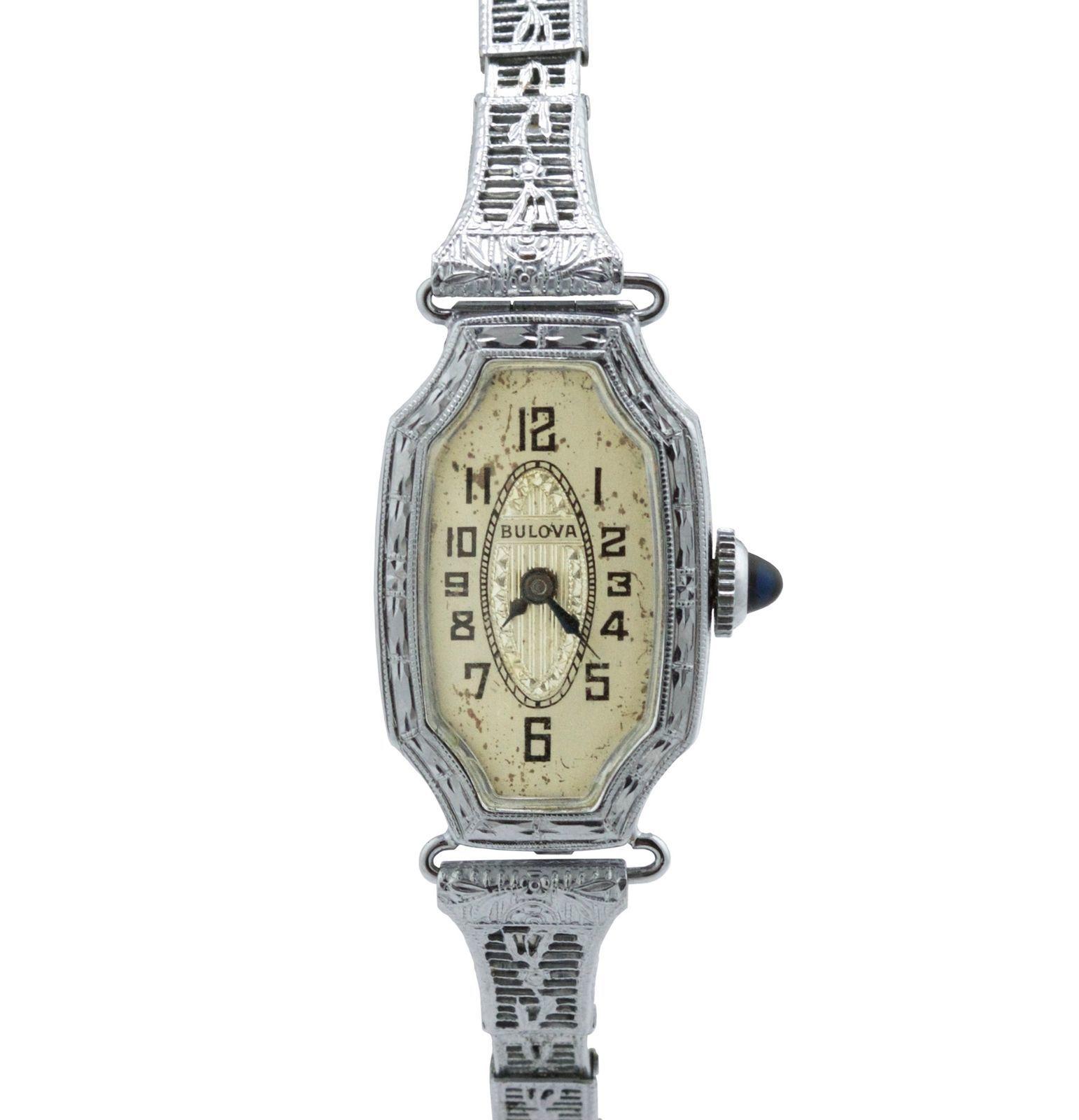 9cbf9fcb8 Vintage Ladies Bulova Solid 14K White Gold and 34 similar items